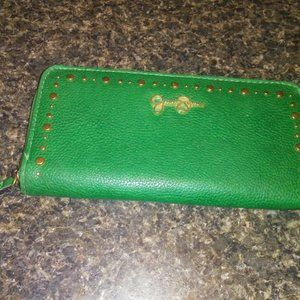 Jessica Simpson Green Studded Wallet